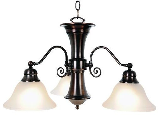 Portfolio 3 Light Light Oil Rubbed Bronze Contemporary: Wellington Lighting Collection, 3-Light Chandelier, Oil
