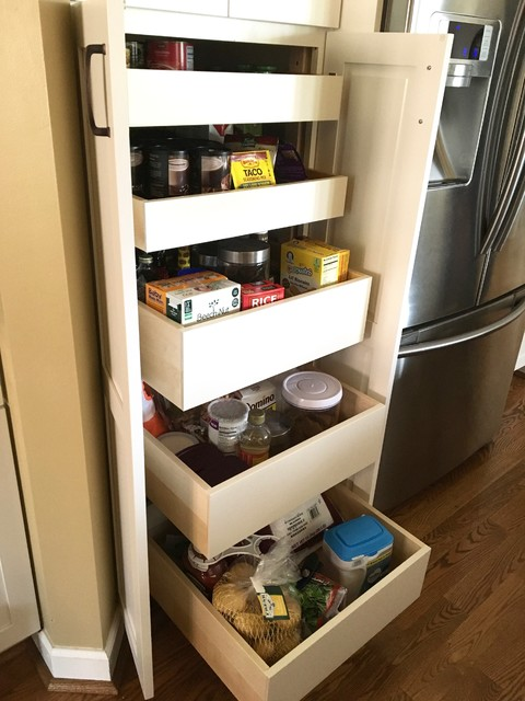 Pantry Cabinet Custom Glide-Out Trays - Detroit - by Easy ...
