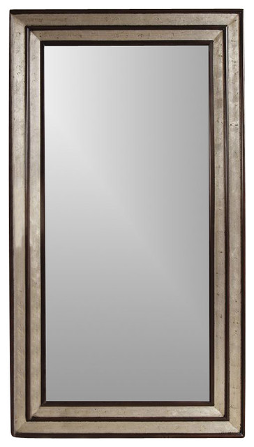 Full-Length Mirror, Silver and Merlot - Contemporary - Floor Mirrors - by ShopLadder
