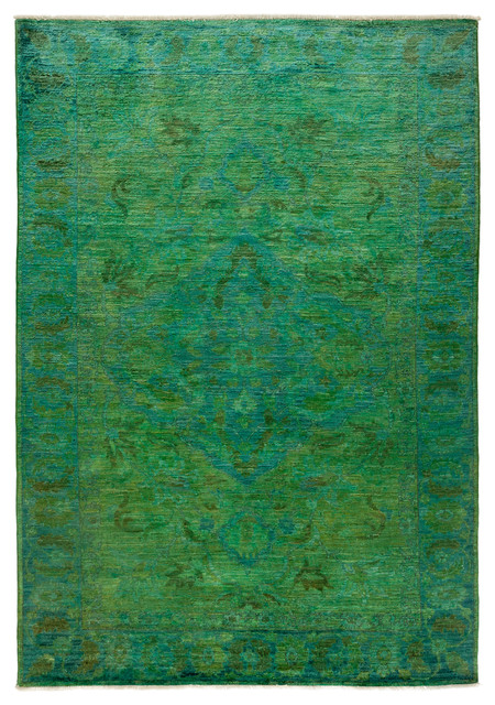 Ziegler Wool Area Rug Lime 6x9 Transitional Area