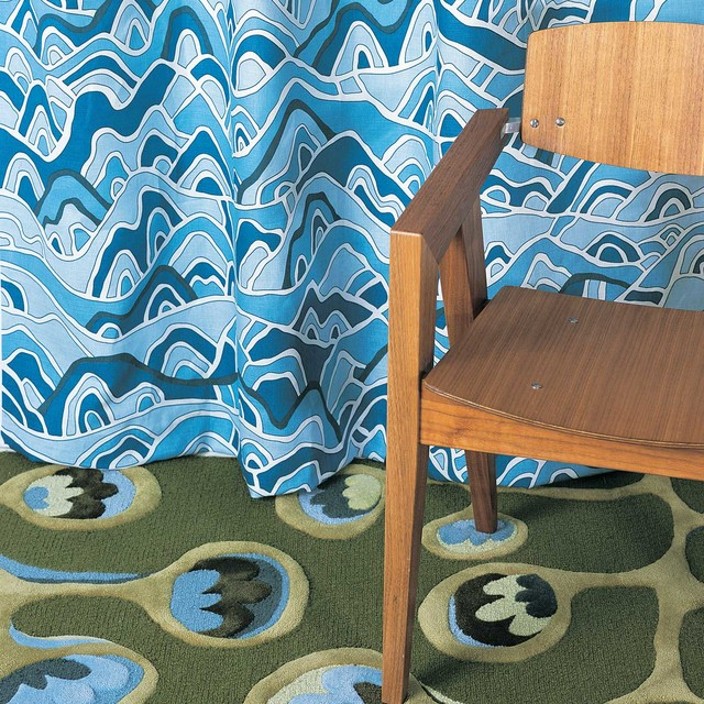 Pod hand tufted wool rug modern portland maine by Angela adams rugs