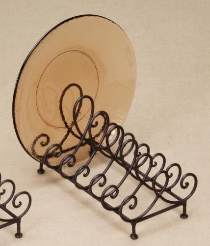 """Baldwin Metal 6 Place Plate Holder for 8""""-11"""" Dia Plates - Contemporary - Plate Stands And ..."""