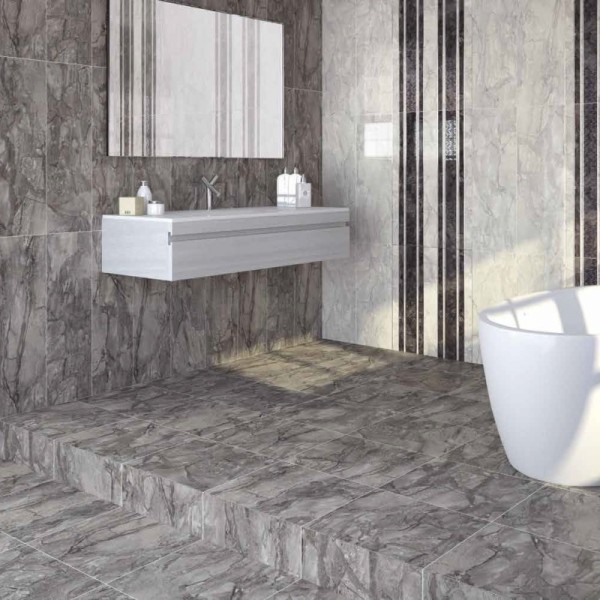 Dreire High Gloss Floor Tiles Dark Grey Direct Tile Warehouse Contempor