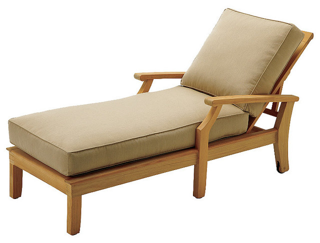 Cape chaise lounger with cushion navy contemporary for Chaise longue tours