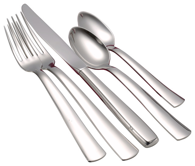 Modern America Serving Set 65 Piece Modern Flatware And Silverware Sets By Liberty Tabletop
