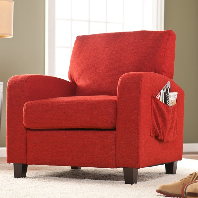 Upton Home 39 Ashton 39 Cherry Red Upholstered Arm Chair Contemporary