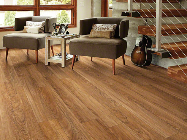 Shaw classico plank lvt click lock teak traditional for Floorte flooring