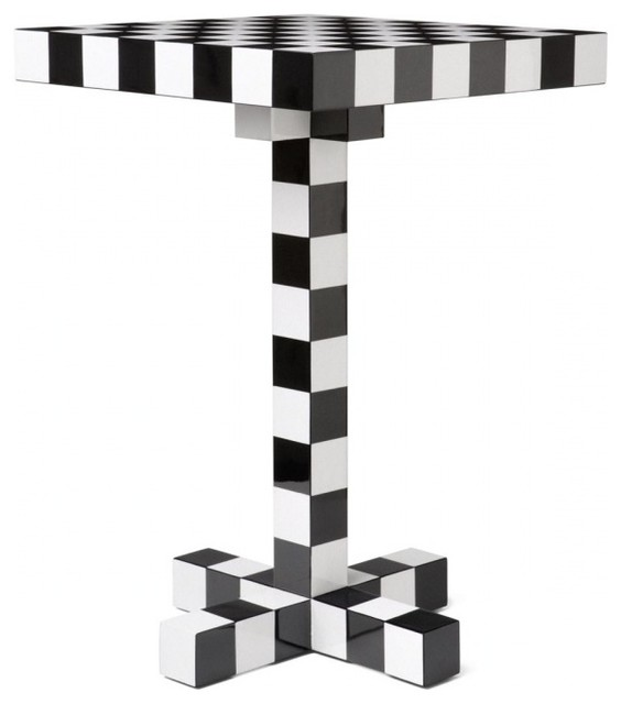 chess tisch modern side tables end tables by. Black Bedroom Furniture Sets. Home Design Ideas