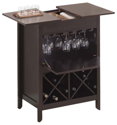 Leo wine cabinet wenge transitional wine and bar for Acme kitchen cabinets calgary
