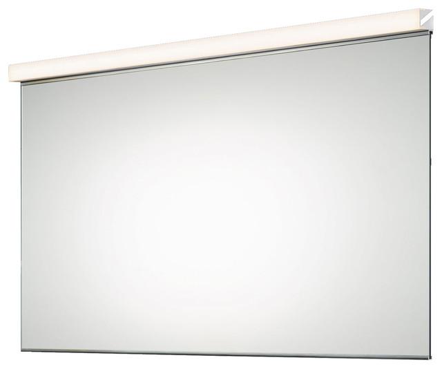 Vanity horizontal mirror kit modern bathroom mirrors - Large horizontal bathroom mirrors ...