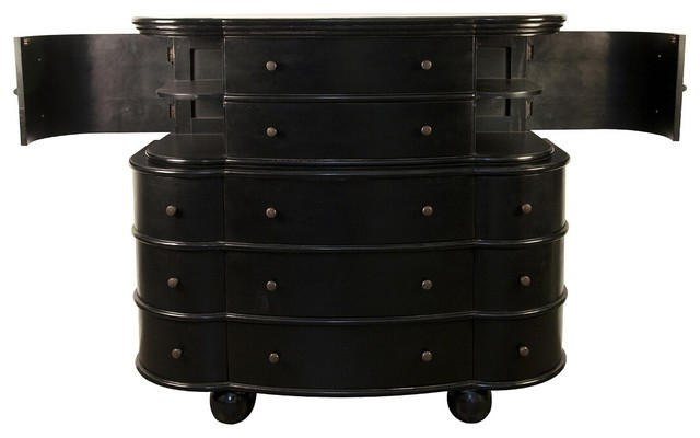 noir matteo dresser hand rubbed black industriel commode et chiffonnier par candelabra. Black Bedroom Furniture Sets. Home Design Ideas