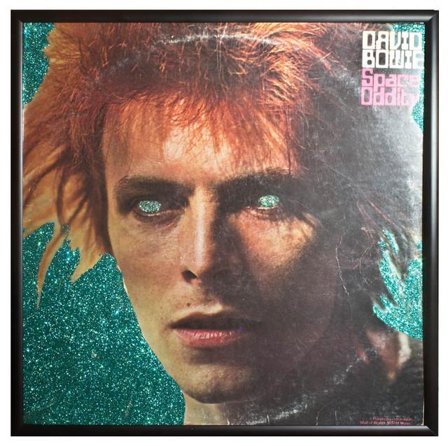 Glittered David Bowie 'Space Oddity' Album - Contemporary ...