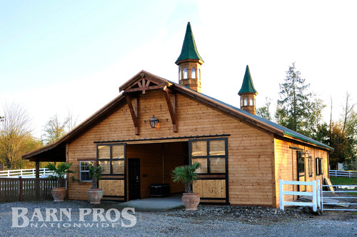 Barn remodel project before and after for Barn pros nationwide