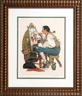 Norman Rockwell Ye Pipe And Bowl Lithograph