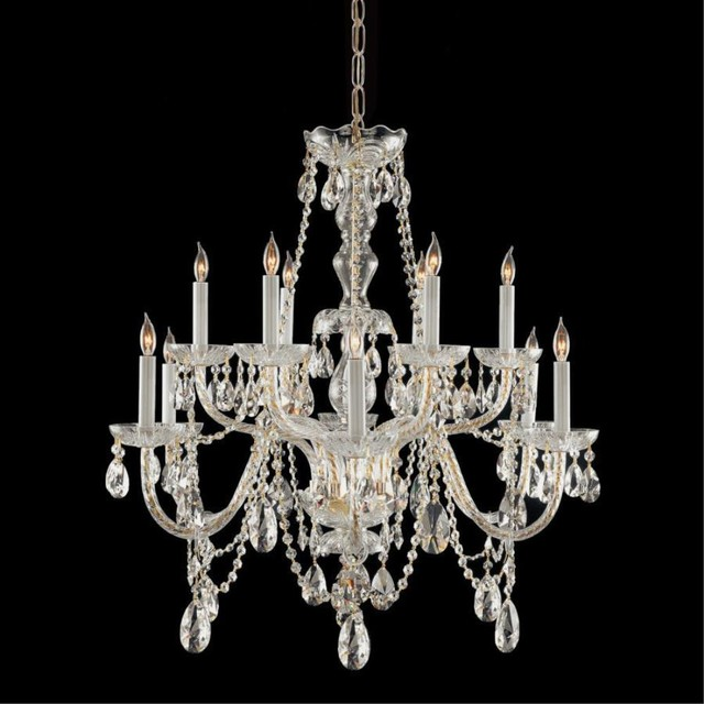 Crystorama 1135 traditional crystal six light chandelier traditional chandeliers by - Traditional crystal chandeliers ...