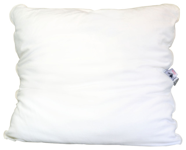 Traditional Pillow Easy Clean Medium : Malpaca Pillow,Euro, Natural White, Euro, Medium Fill - Traditional - Bed Pillows - by Malpaca