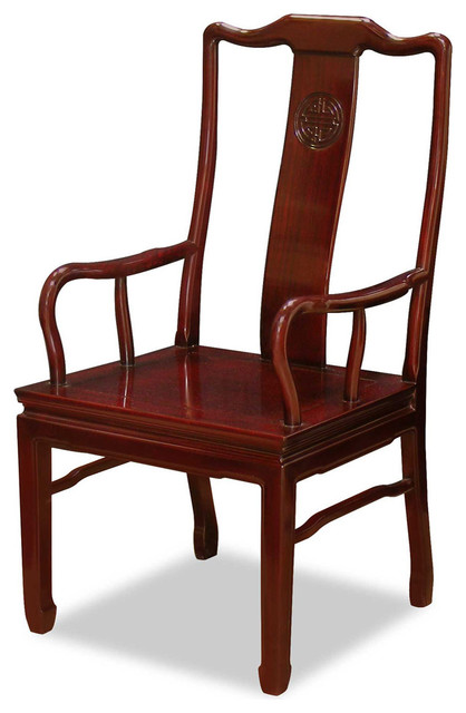 Rosewood Longevity Design Arm Chair Asian Armchairs