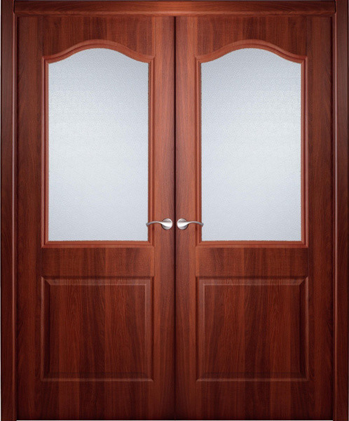 Interior Double Door Italian Nutwood with Frosted Glass ...