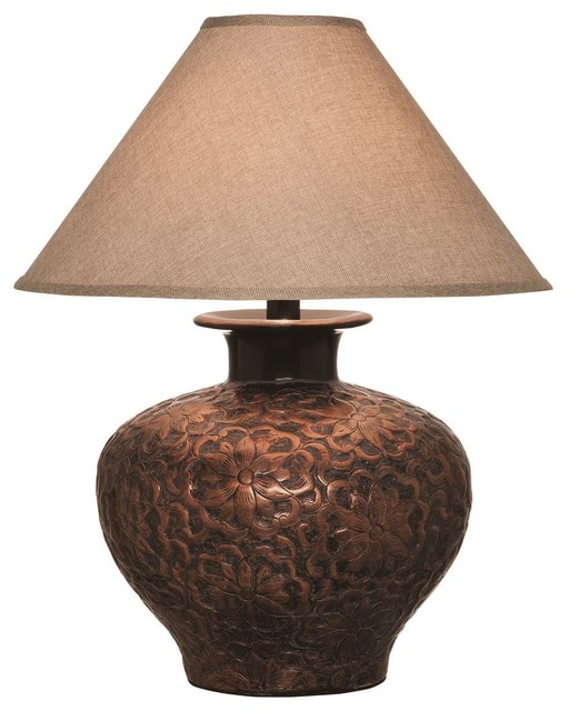 Hammered Copper Table Lamp Table Lamps Los Angeles