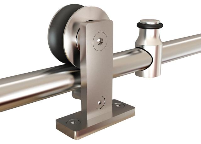 Top mount stainless steel barn door hardware for Top mount barn door hardware