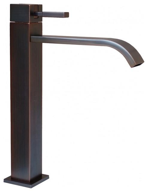 Meka vessel faucet oil rubbed bronze moderno grifos - Grifos modernos bano ...