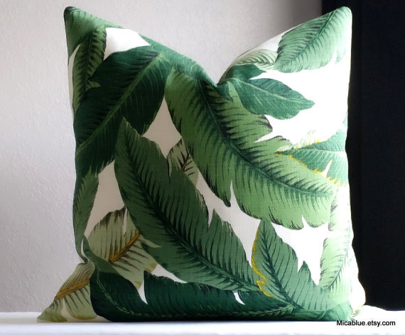 Tommy Bahama green palm - Beach Style - Outdoor Cushions And Pillows - orlando - by micablue ...