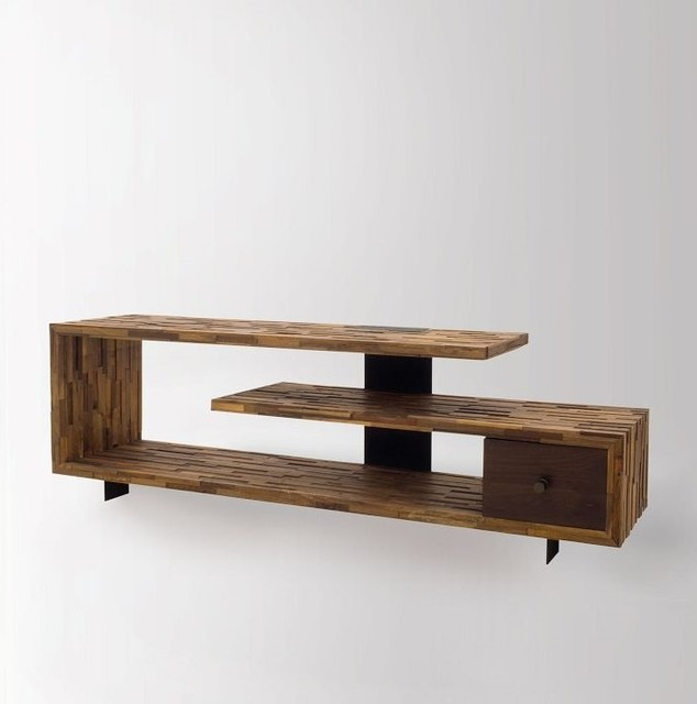 Jonah Reclaimed Wood TV Console Table - Rustic - Entertainment Centers And Tv Stands - New York ...