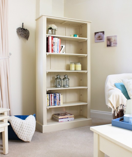 Cadence Tall Open Bookcase Contemporary Bookcases