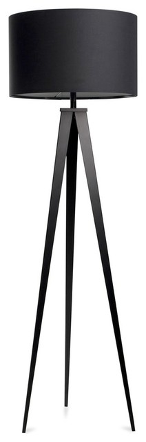 lampadaire tr pied tripod metal couleur noir moderne. Black Bedroom Furniture Sets. Home Design Ideas