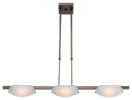 nido 3 light semi flush or pendant modern flush mount