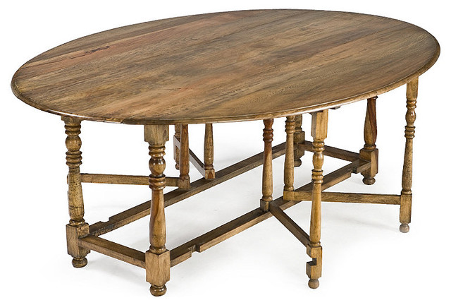 Oval drop leaf dining table traditional dining tables for Traditional dining table uk
