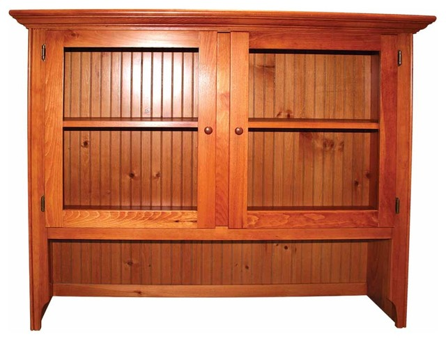 Hutches Honey Pine Walden Hutch Top ONLY farmhouse-china-cabinets-and-hutches
