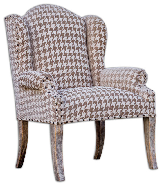 Winesett Brown Armchair Modern Armchairs and Accent