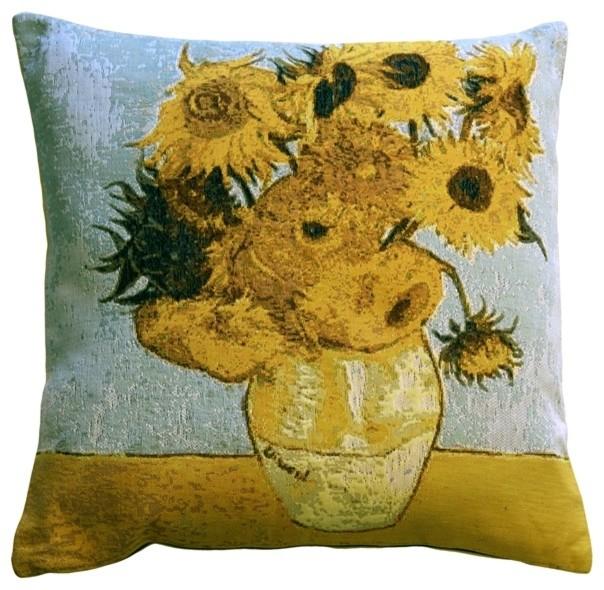 Traditional Decor Pillows : Pillow Decor - Van Gogh Sunflowers 19 x 19 Throw Pillow - Traditional - Decorative Pillows - by ...