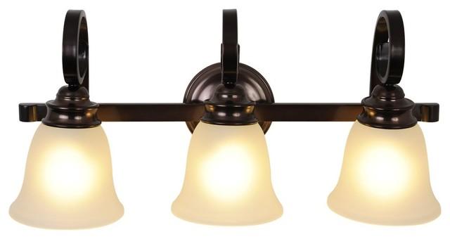 Bathroom Vanity Lights Oil Rubbed Bronze : Three Light 24