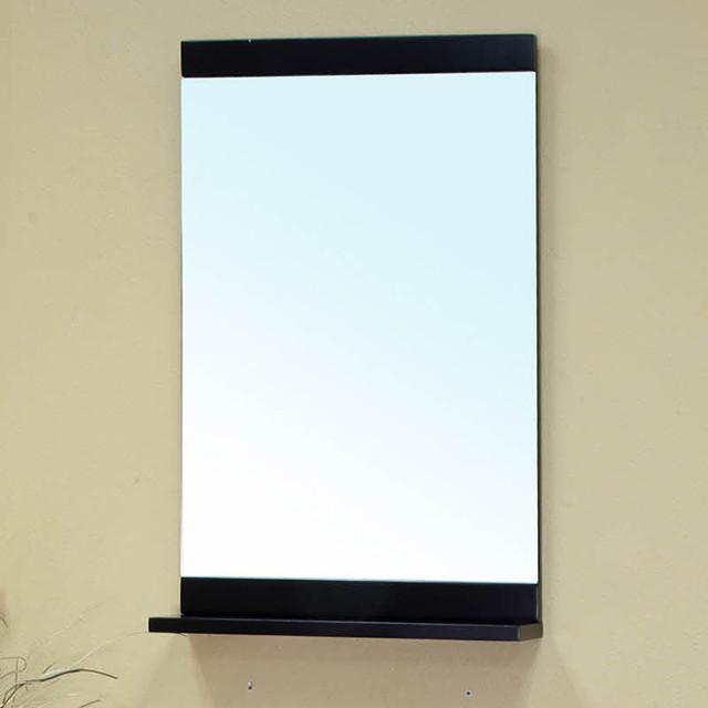 Visconti Black Bathroom Vanity Mirror Contemporary
