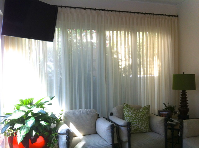 Sunroom Traditional Window Treatments Tampa By