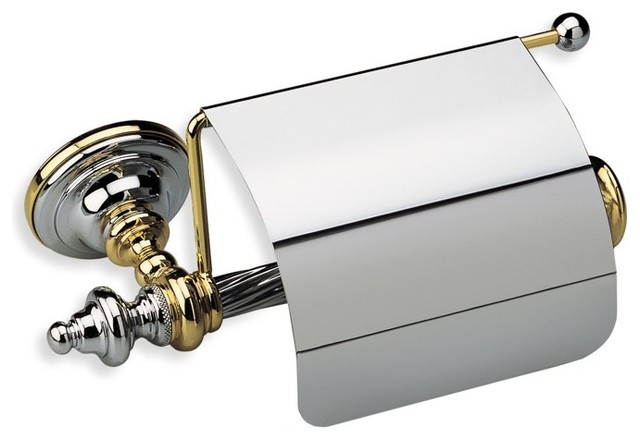 Classic Style Brass Toilet Roll Holder With Cover