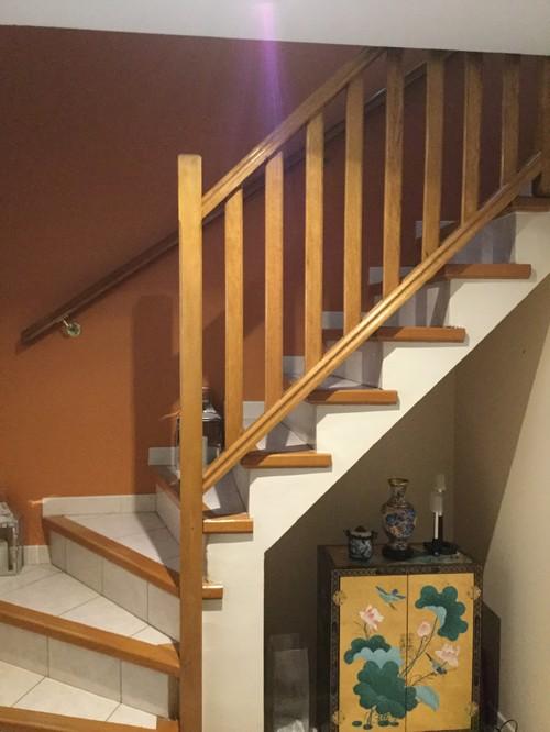 Couleur mur mont e escalier for Montee escalier bois