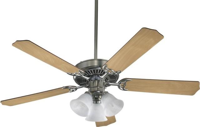 Three Light Satin Nickel Ceiling Fan