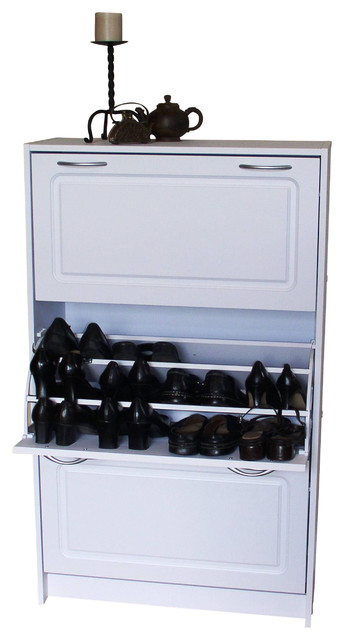 Deluxe Triple Shoe Cabinet - Traditional - Shoe Storage - by 4D Concepts