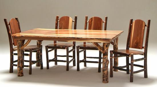 Black Walnut Dining Table & Chairs