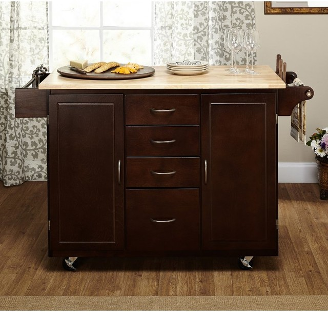 Target Marketing Systems Cottage Kitchen Island 30001wht Contemporary Kitchen Islands And