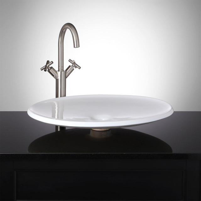 Modern Vessel Sinks : Eclipse Round Shallow Vessel Sink modern-bathroom-sinks