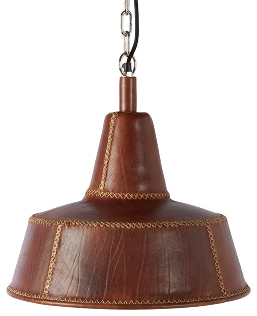 Leather Cone Pendant Bobo Intriguing Objects Industrial