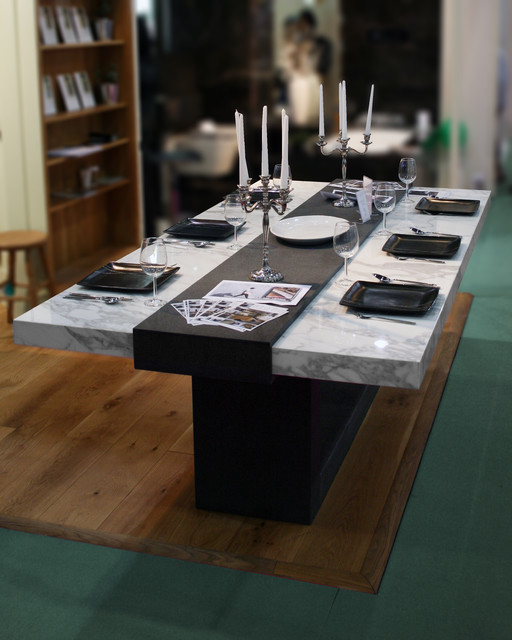 Stone Table For Grand Designs Show Contemporary Dining Tables Other B