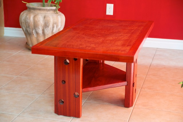 bubinga padauk coffee table tropical coffee tables. Black Bedroom Furniture Sets. Home Design Ideas