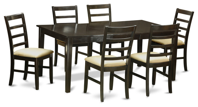 7 pc dining room set dinette table with leaf and 6 dining for 7 pc dining room set