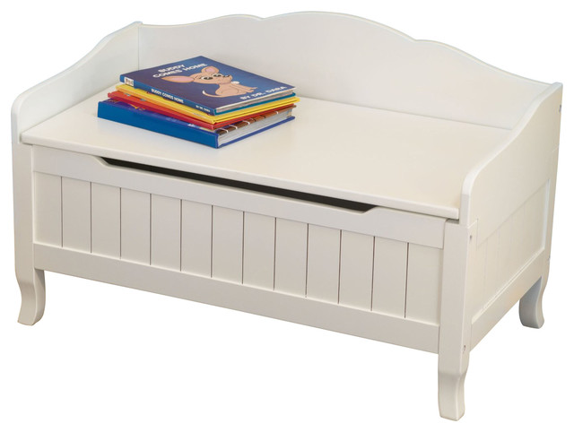 Nantucket Toy Box White By Kidkraft Contemporary Kids Storage Benches And Toy Boxes By