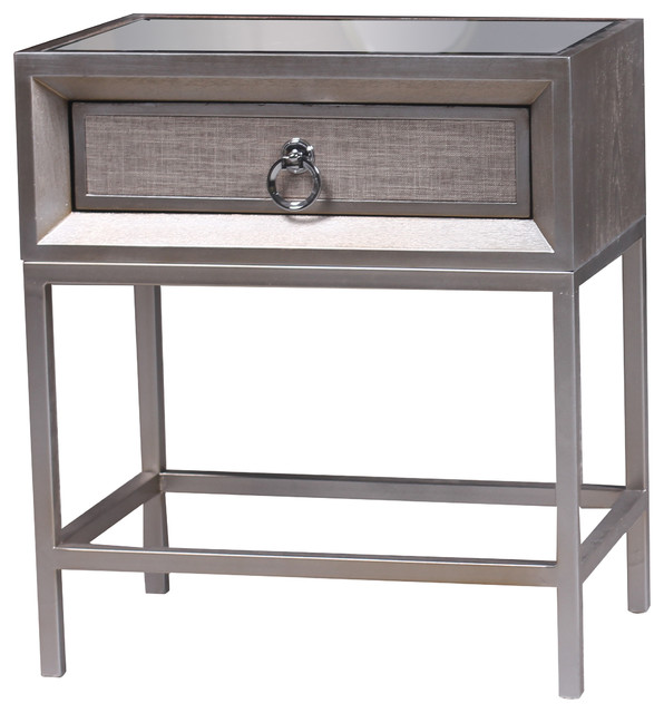 Cassidy 1 Drawer Nightstand - Transitional - Nightstands And Bedside Tables - by Statements by J